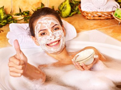 11216902 - natural homemade  facial masks at home .